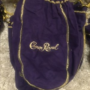 Set of 10 purple Crown Royal bags 750ml size